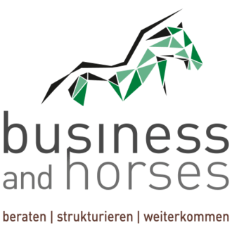 business and horses Logo